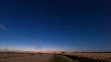Dazzling sunrise graces Kansas