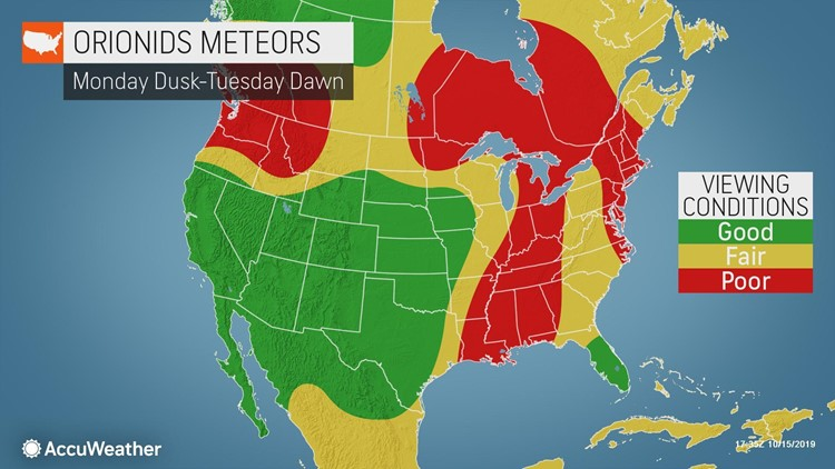 The Orionids, one of the 'top 5 meteor showers of the year,' will peak tonight