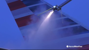 Behind the scenes with American Airlines' deicing operations in Chicago