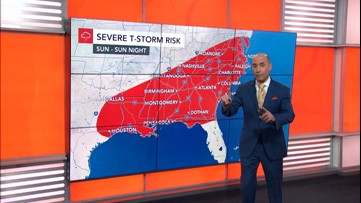 Widespread severe weather threat for the South this weekend