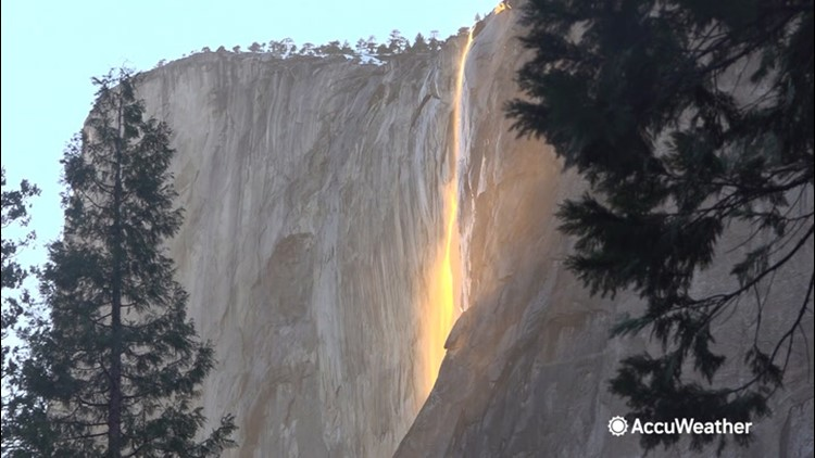 'Firefall' glows bright at Yosemite