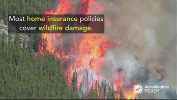 What does your homeowners insurance cover if wildfire damage happens?