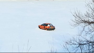 When will this 1998 Saturn plunge through the ice? A correct guess could win $1500