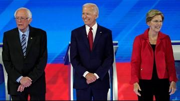 Biden, Warren, Sanders face scrutiny at Democratic debate