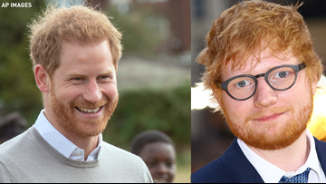 Prince Harry, Ed Sheeran promote World Mental Health Day with 'slightly awkward' encounter