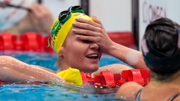 Australian coach has reaction you have to see after Titmus beats Ledecky