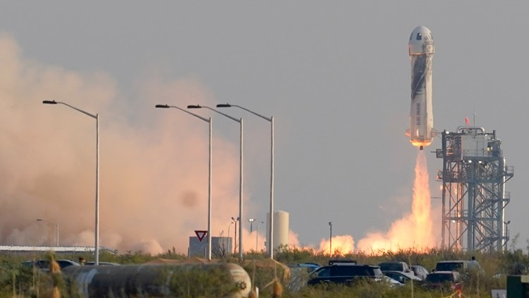 Blue Origin's Jeff Bezos reaches space on 1st passenger flight