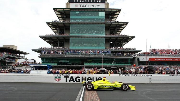 Simon Pagenaud at start of APTOPIX IndyCar Indy 500 Auto Racing