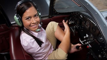 Born without arms, this pilot flies with her feet