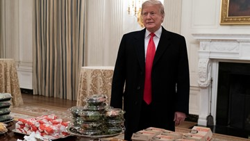 Trump buys fast food for Clemson football's White House visit, blames shutdown