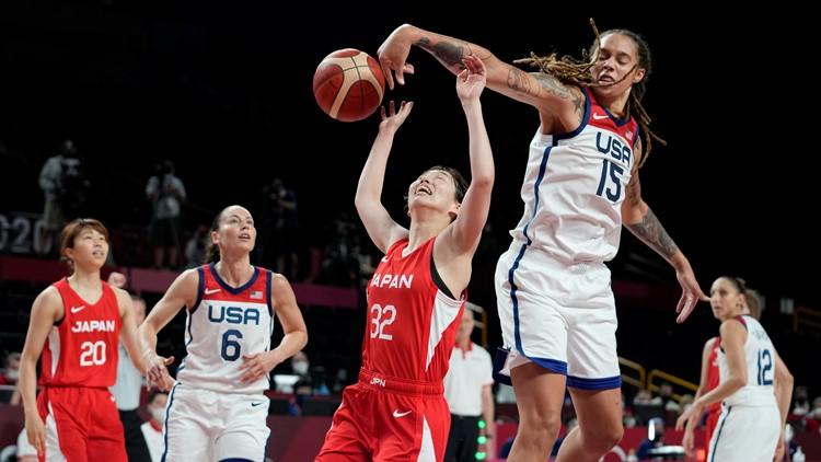 Team USA women's basketball, including 3 Phoenix Mercury players, use dominant inside presence to beat Japan 86-69