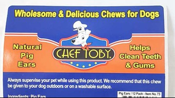 Another pig ear dog treat recall issued for salmonella concerns