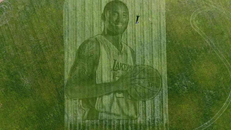 Kobe Bryant grass tribute California