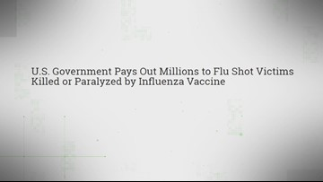 VERIFY: Misleading claims say government pays 'flu shot victims' millions