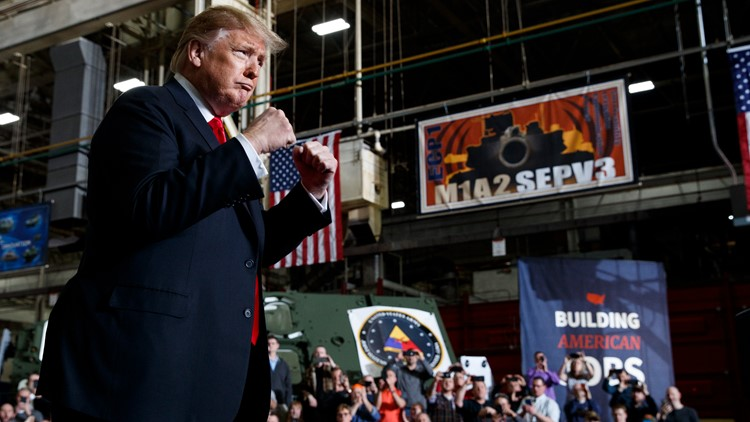 Trump ramps up attacks on late Sen. John McCain while touring Ohio tank plant