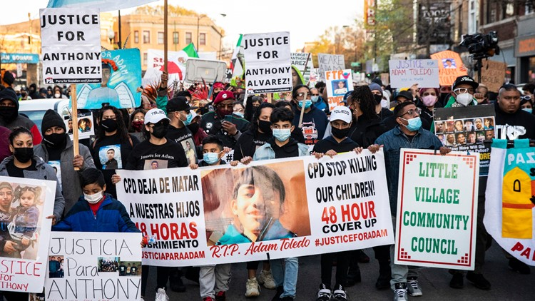 Vigil, 'peace walk' in Chicago after police shooting of 13-year-old boy