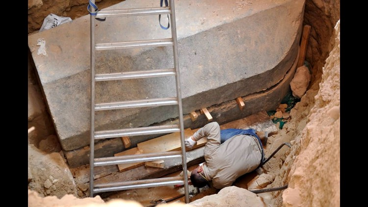 Here's what archaeologists found in the huge granite coffin discovered in Egypt