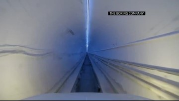 Elon Musk unveils Los Angeles tunnel for commuters