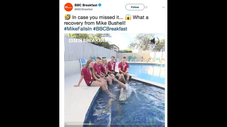 Twitter Ablaze Over BBC Journalist Falling Into Pool During Interview