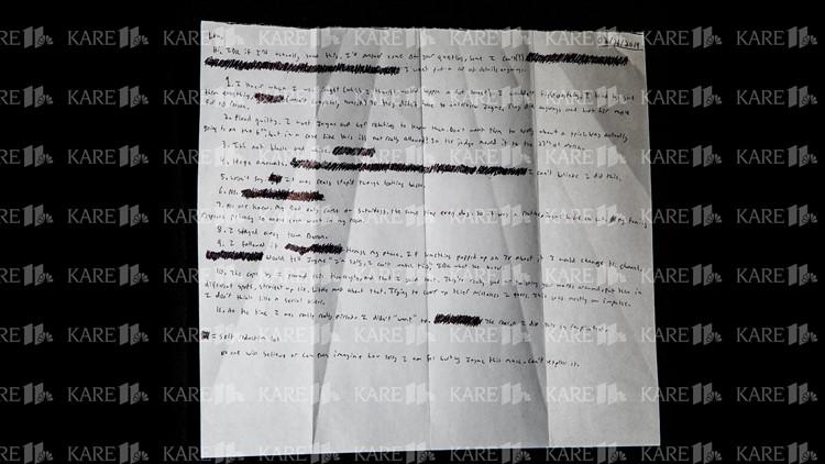 Handwritten letter from Jake Patterson