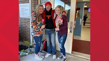 'What a precious heart he has': Texas high school student gives every girl a flower on Valentine's Day