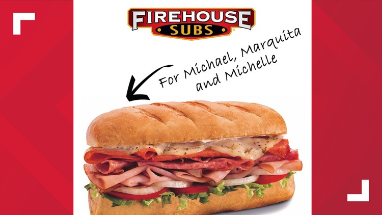 You can get free Firehouse Subs today -- if your name is Michael, Marquita or Michelle