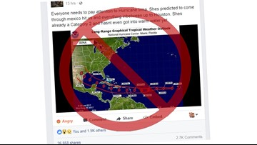 Fake image of Hurricane Irma shows false storm path toward Texas
