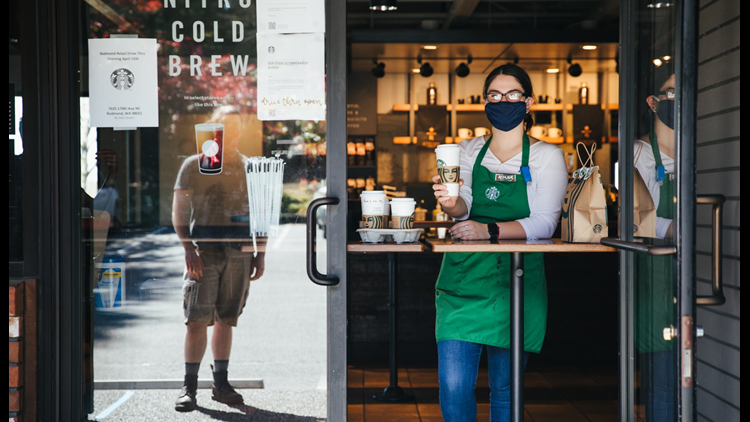 Starbucks allowing grab-and-go orders in some U.S. cities starting tomorrow