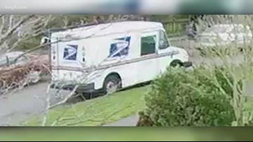 Person caught on camera stealing mail delivery truck in Seattle