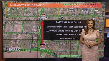 Weekend traffic outlook for Feb. 21- Feb. 24