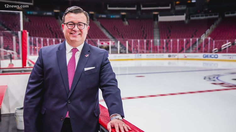 Arizona Coyotes president, CEO says Hispanic heritage guides his path