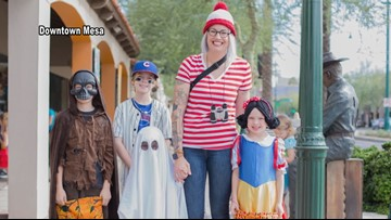 Trick-or-treating starts early in Mesa