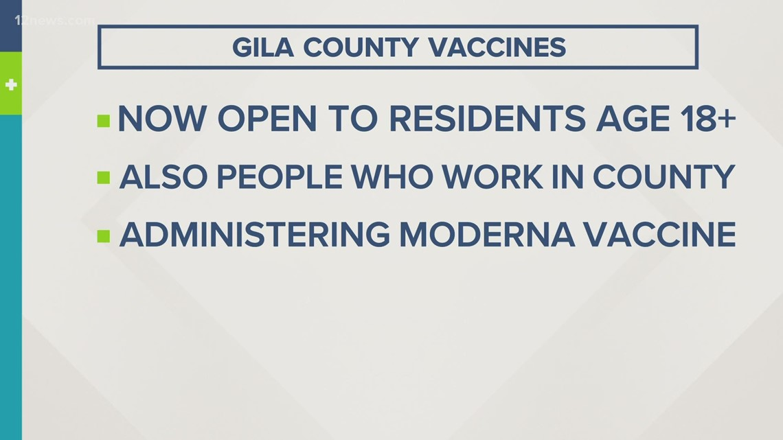 Gila County expands COVID-19 vaccine eligibility to all adult residents