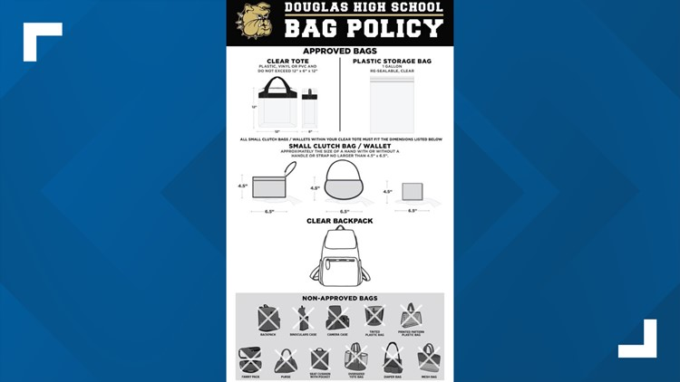 Douglas High School bag policy