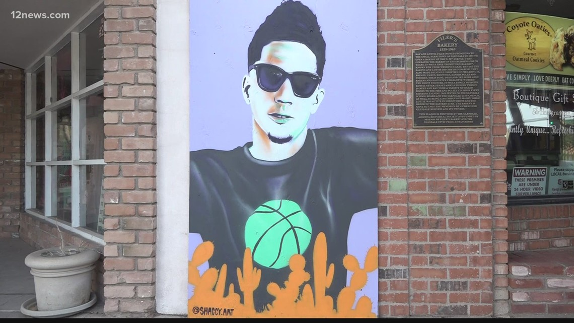 Suns mural goes up in Glendale as fan support spreads across the Valley