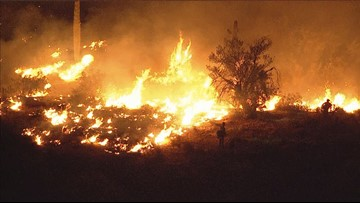 Dove Fire estimated at 1,000 acres northwest of Surprise, Ariz.