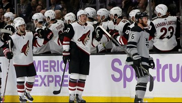Crouse scores, leaves with injury as Coyotes beat Kings