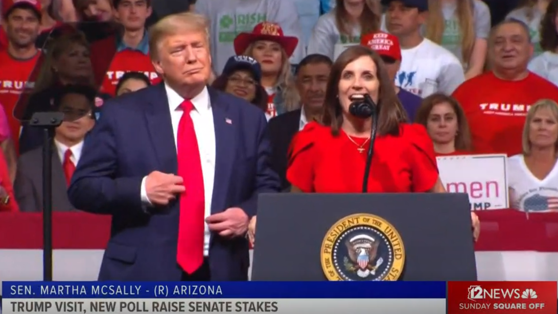 Martha McSally gets President Trump's blessing, but doesn't have voters on her side yet