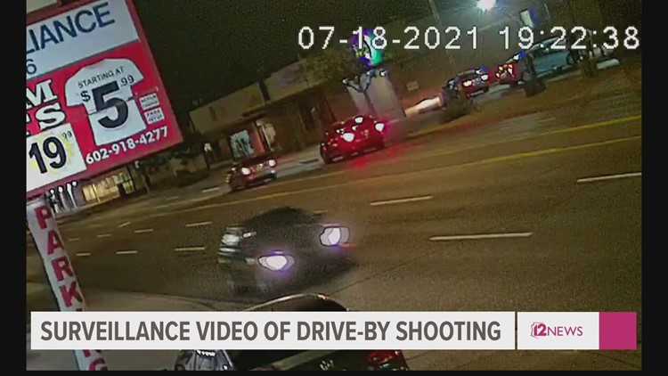 Phoenix police release surveillance footage connected to drive-by shooting