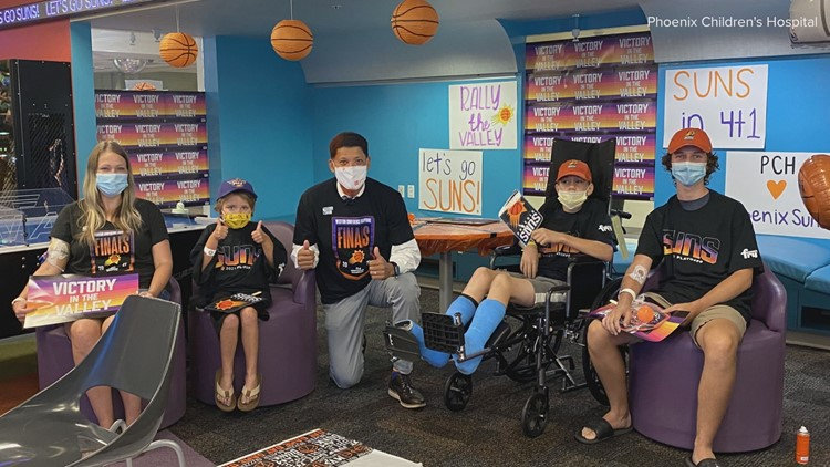Suns fans at Phoenix Children's Hospital Rally the Valley in fun competition against Children's Wisconsin