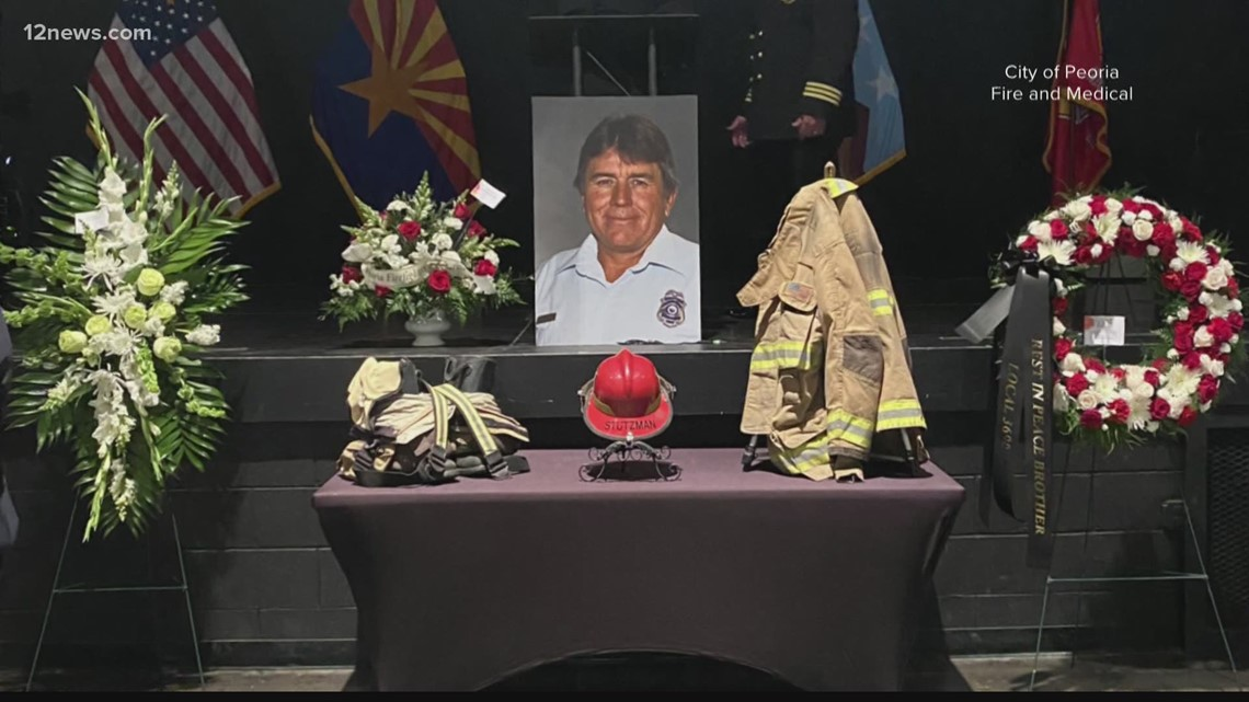 'He was just very likeable': Peoria Fire says goodbye to beloved firefighter