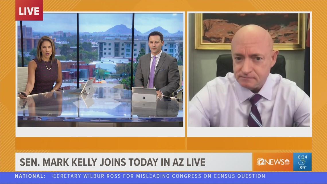 Senator Mark Kelly visits Today in AZ