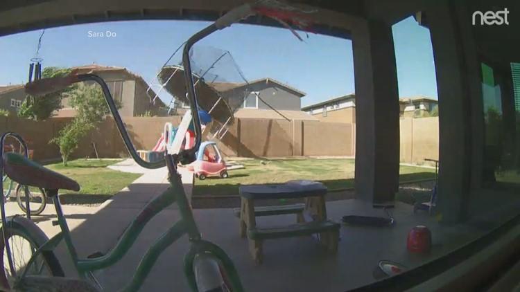 WATCH: Flying trampoline in Gilbert