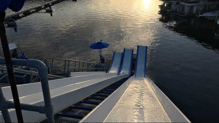 Brave enough to try? World's tallest floating water slide opens at
