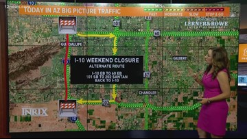 South Mountain Freeway work to close EB I-10 between US 60 and Loop 202