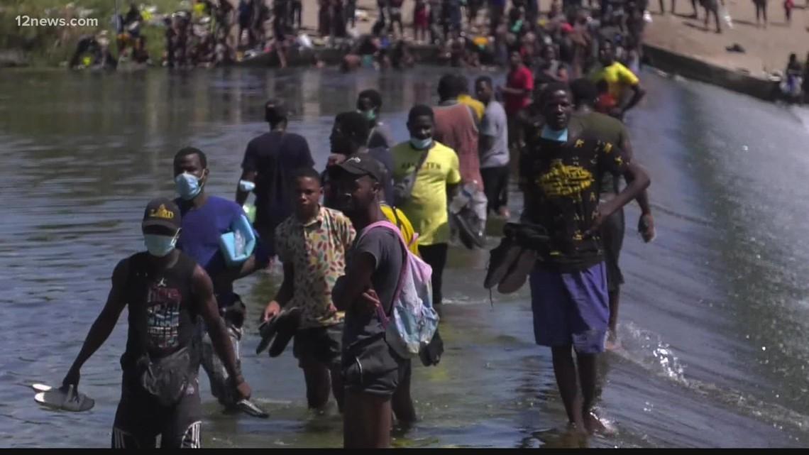 Haitian migrants getting assistance in Arizona
