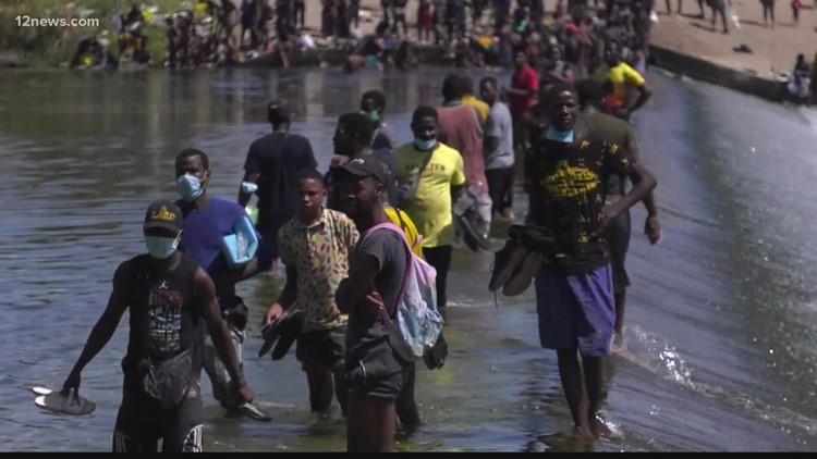 Haitian migrants seeking asylum receive help in Arizona