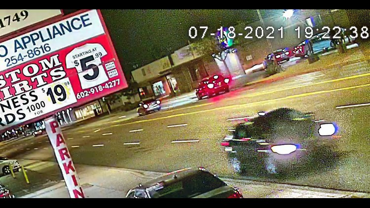 Security camera shows suspect's car in drive-by shooting that killed 23-year-old woman