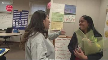 A+ teacher: Sabiha Arab from Morris K. Udall Middle School