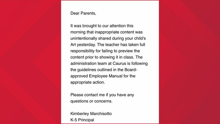 Art letter from Caurus Academy